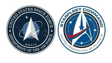 Figura 3 de comparacao simboloes USSF e starfleet